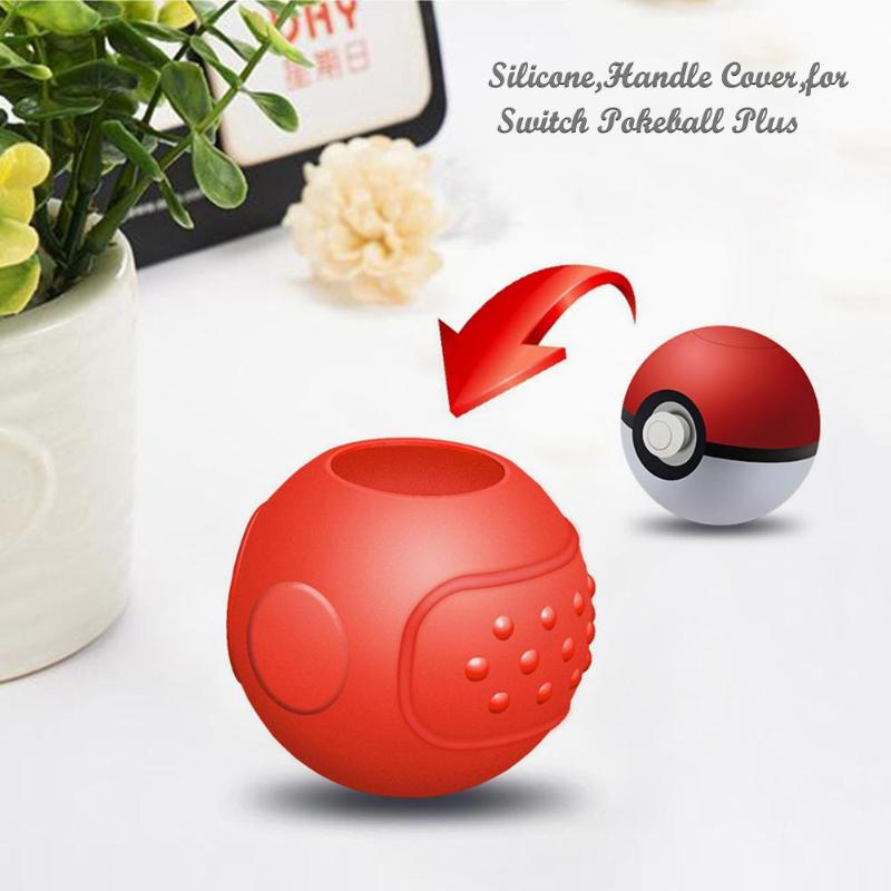 Smart Soft Silicone Handle Protective Case Cover Sleeve For Nintend Switch Pikachu Pokemon Pokeball Plus 52mm*52mm*47mm Silicone Ample Supply And Prompt Delivery Replacement Parts & Accessories
