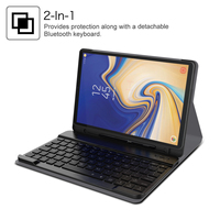 For Samsung Galaxy Tab S4 10.5 inch T830 Case With Separable USA Bluetooth Keyboard & Pen Holder Unique Stripe Tablet Case