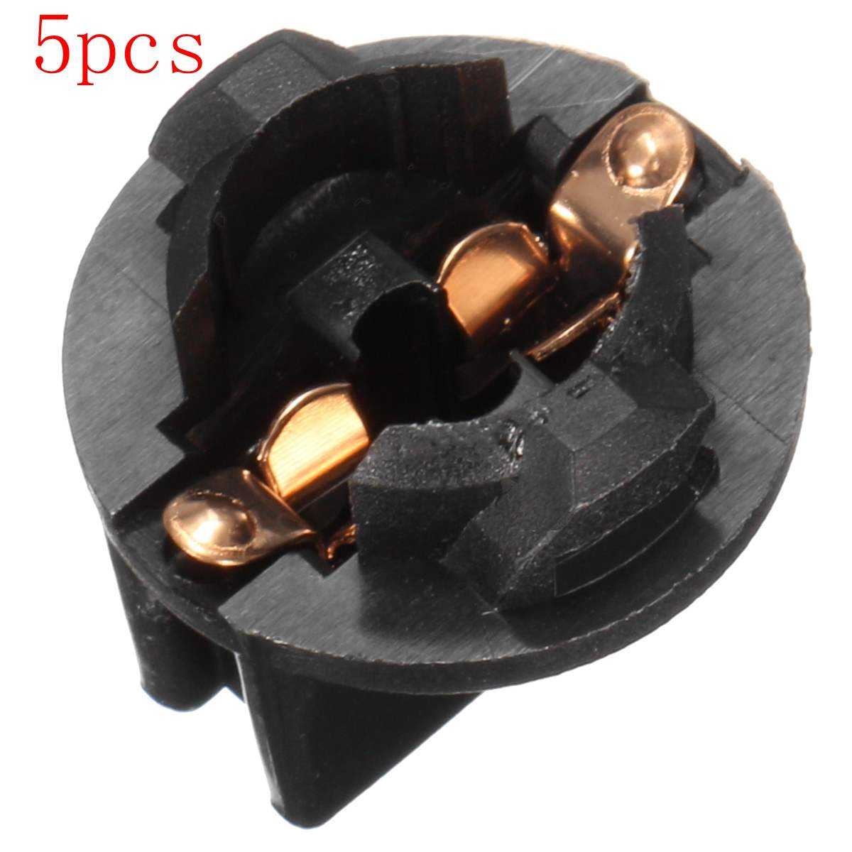 5pcs Black T10 Twist-in Interior Car Light Socket Twist Lock Plug Instrument Dashboard Panel Light Bulb 192 194 168 259