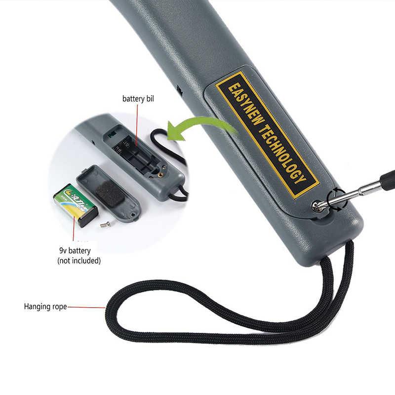 Handheld Keamanan Detektor Logam Tongkat Sarung Scanner Lampu LED Sensitivitas Pemeriksaan Penentuan Hand Held Metal Detector Baru