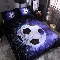 200x230cm Soccer Printed 3D Bedding Sets Quilt Cover Pillow 3PCS/SET Fashion