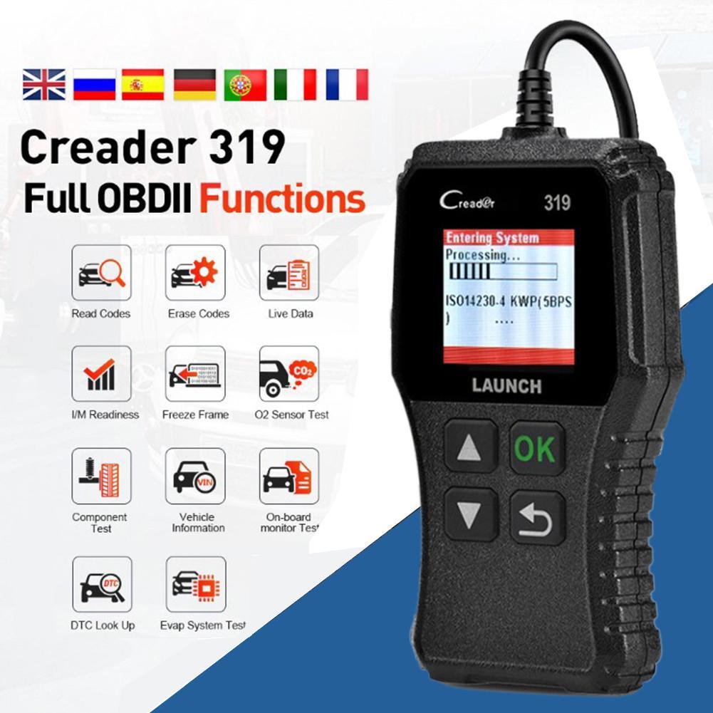Полный OBD2 OBDII код читателя сканирования инструменты БД 2 CR319 автомобиля диагностический инструмент PK AD310 ELM327 сканер высокое качество автомоб