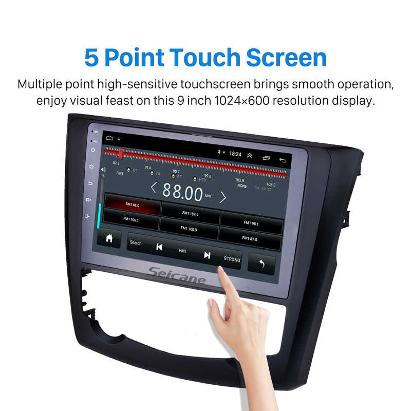 Seicane 9 インチ 2016 2017 ルノー Kadjar アンドロイド 8.1 HD タッチスクリーンオートラジオ Gps ナビゲーション Bluetooth カーステレオテレビチューナー