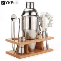 750ml Set of Stainless Steel Cocktail Drink Shaker Mixer Bar Wine Making Tool With Strainer Ice Filter Clip Bottle Opener