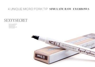 Waterproof Microblading Pen Paint For Eyebrow Tattoo Pen 4 Heads Liquid Eye Brow Makeup Ink Pencil Beauty Cosmetic Long Lasting 5