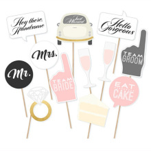 12pcs Photo Booth Props Photobooth props bridal Party cake photo booth Mr Mrs Accessories