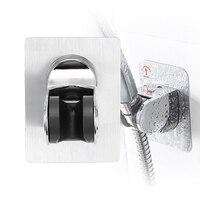 Dikişsiz duş başlığı bankası duvara monte duş braketi yumruk ücretsiz banyo kanca ayarlanabilir