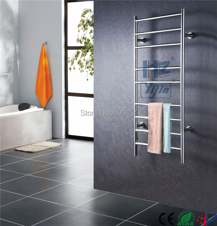 Free Shipping Stainless steel ladder style heated towel rail wall mounted towel warmer Rack electric towel
