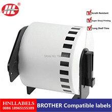 50x рулоны для принтера Brother непрерывного этикетки стикер для штрих-кода DK22205 DK-22205 DK 22205 62 мм* 30,48 м белая бумага