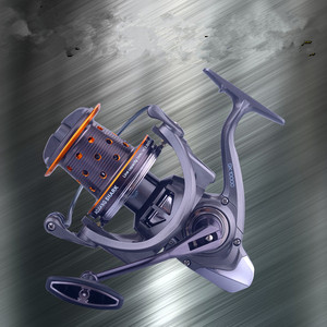Image 2 - GK9000 מתכת חוט כוס עוגן דגי גלגל Ultralight נירוסטה bearing אגם דיג ספינינג גלגל בלימה כוח 10 15 kg