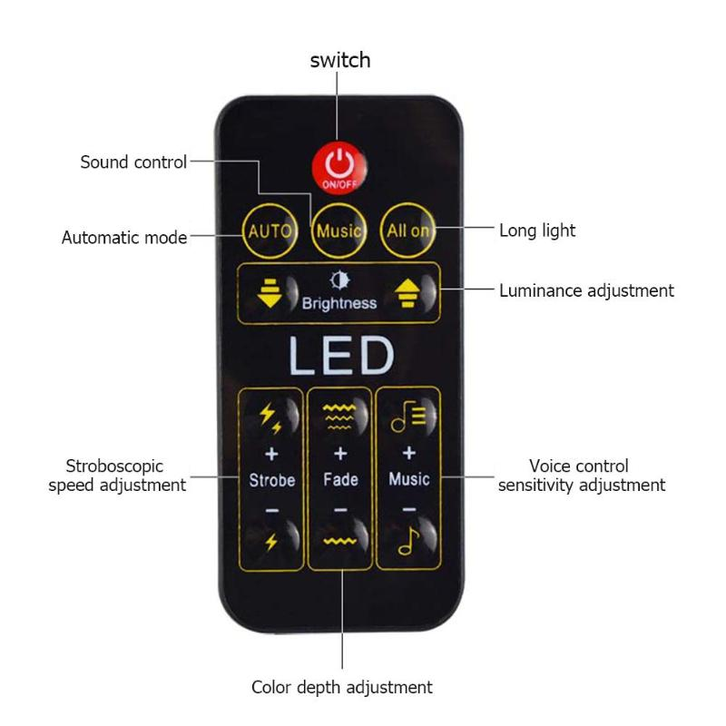 Atotalof Uv 9led Lamp Purple Light Wall Washer Bar Stage Party Light With Remote Control Halloween Decoration Stage Lighting Effect