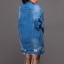 Denim Coats Jeans Ripped Loose Jacket PU27
