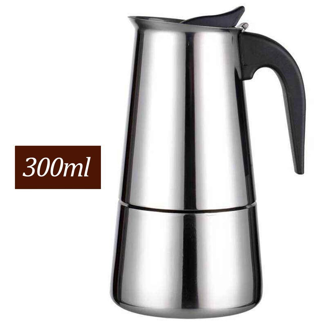Stainless Steel Espresso Coffee Maker Pot Home Silver Office Use 14.5x11.5x23.5cm/5.7x4.5x9.3inch Tool