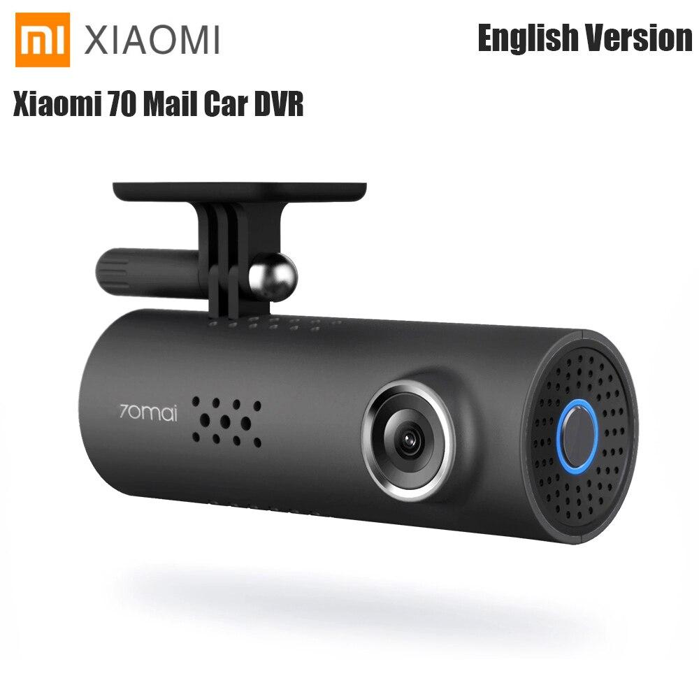 Global Xiaomi 70 mai Minutes Smart 70 Mail Dash Cam WiFi DVR caméra de tableau de bord sans fil 130 degrés Mstar 8328 P IMX323 1080 P 30fps voiture Cam