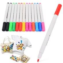 13pcs/set DIY Graffiti Fabric Marker Pens Permanent Colors For Printing Textile Clothes T-Shirt Shoes Drawing Art Supplies