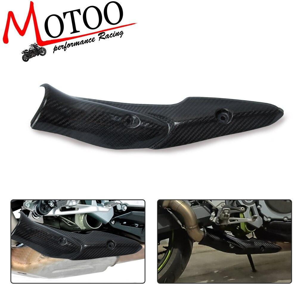 Sistema de Exaustão da motocicleta Tubo de Ligação Do Meio De Fibra De Carbono de Calor Escudo Tampa Guard Anti-Escaldante Z900 Shell Para Kawasaki 2017 -2019