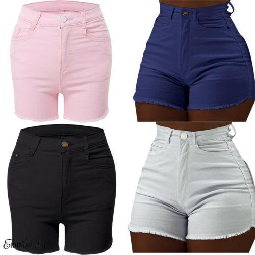 Summer Women High Waist Denim Shorts Bodycon Shorts  Trousers Tassel Jeans Shorts