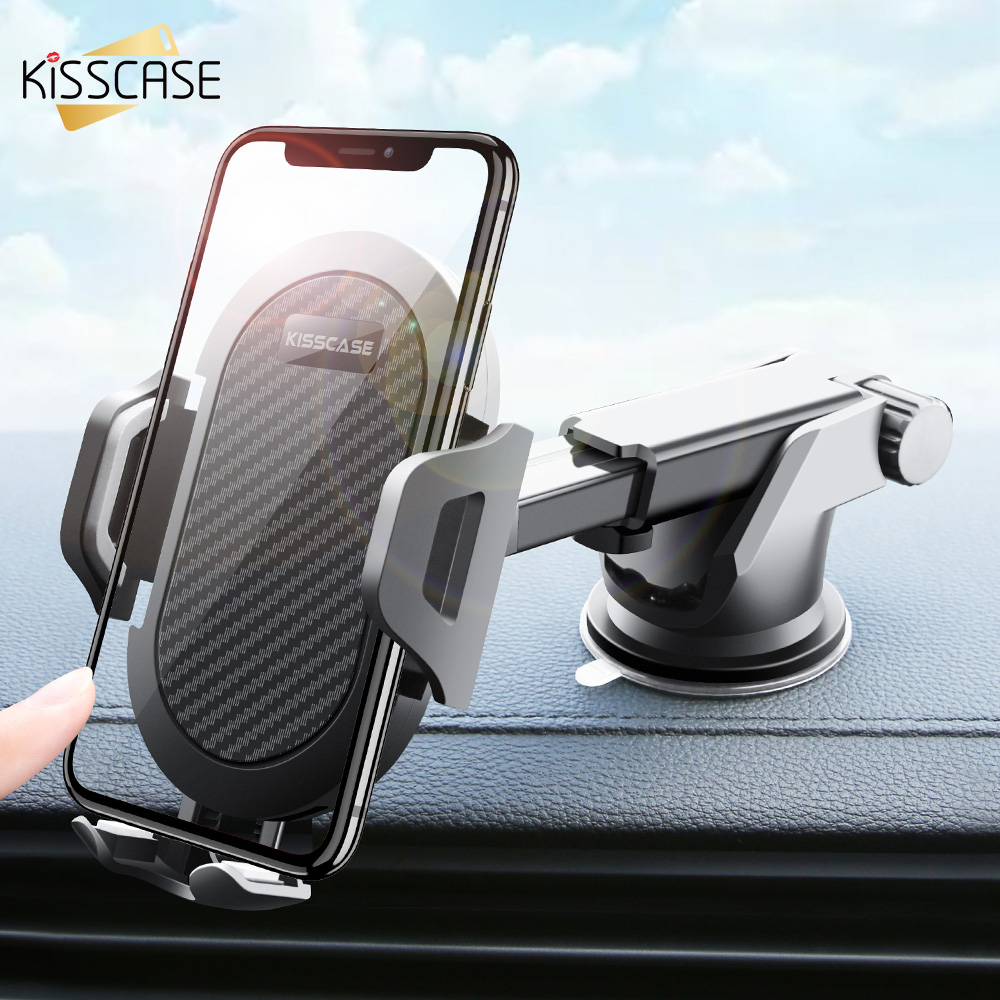 KISSCASE Windshield Gravity Sucker Car Phone Holder For IPhone X Holder For Phone In Car Mobile Support Smartphone Voiture Stand