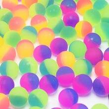 Bola de brinquedo bouncy ball 2 pçs/set, brinquedo infantil de borracha elástica misturada para o ar livre, brinquedos estilo bouncy