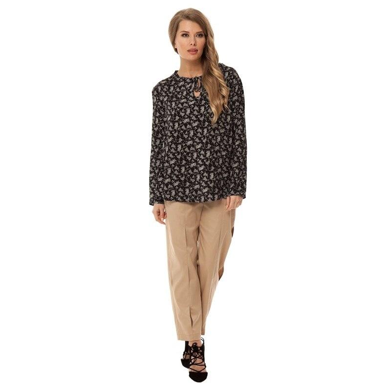 Фото - Blouse GLOSS female TmallFS contrast lace keyhole back blouse