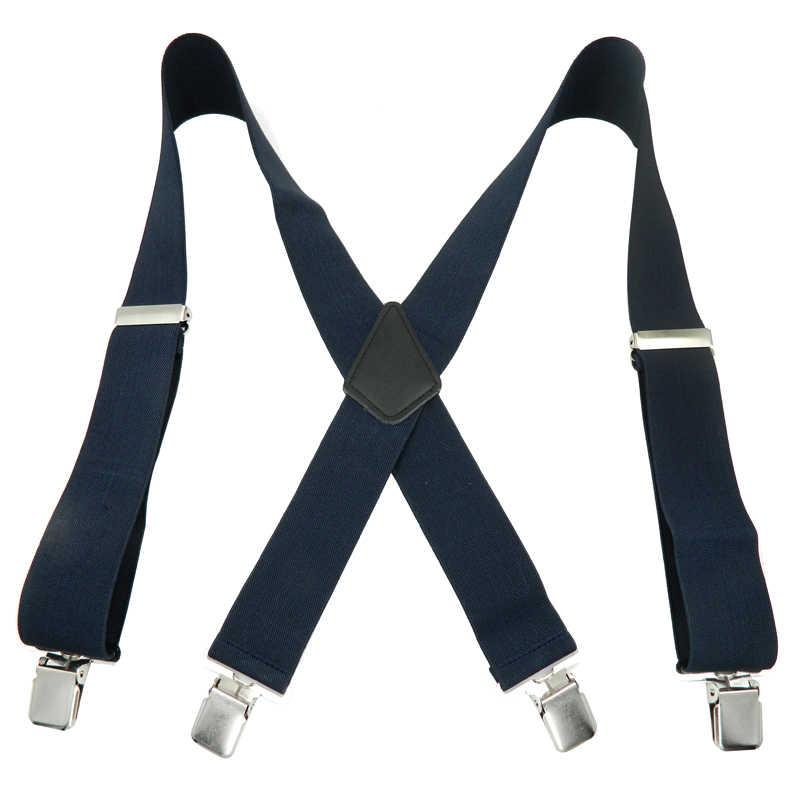 في الهواء الطلق الحمالات الرجال X-شكل الحمالات 50 مللي متر عرض عارضة حزام مرونة 4 كليب على تعديل العمل السراويل الأقواس 47.2 بوصة MBD8470