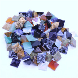 10pcs set Pyramid Gemstone Natural Stone Crystal Quartz Healing Point Chakra Home Office Decoration Crafts