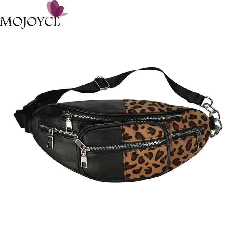 02c6b8b7e8 Street PU Leather Waist Pack Bag for Women Fashion Girls Fanny Pack Leopard  Zebra Pattern Shoulder