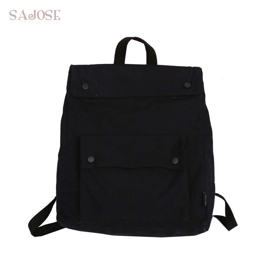 Fashion Female Canvas Backpack Women Leisure Back Pack Ladies Solid Color Knapsack Casual Travel Bags For School Teenage Girls brand fashion school backpack women children schoolbag back pack leisure ladies knapsack laptop travel bags for teenage girls