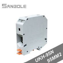 UKH-95N Terminal Block DIN Rail mounted 95mm2 Connection Electrical Conductor clipline Wiring Barrier цена 2017