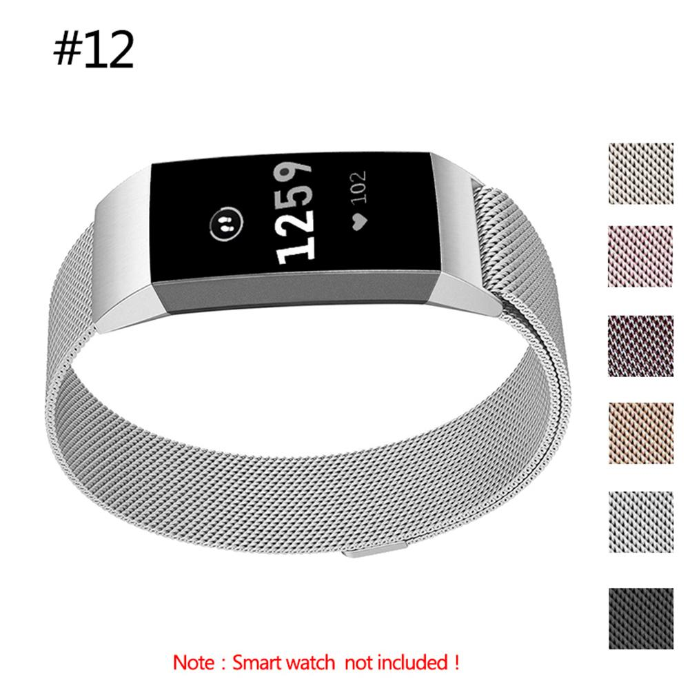 Rondaful 6 Colors High Quality Latest Premium Milanese Replacement Stainless Steel Watch Band Strap For Fitbit Charge3 Wristband
