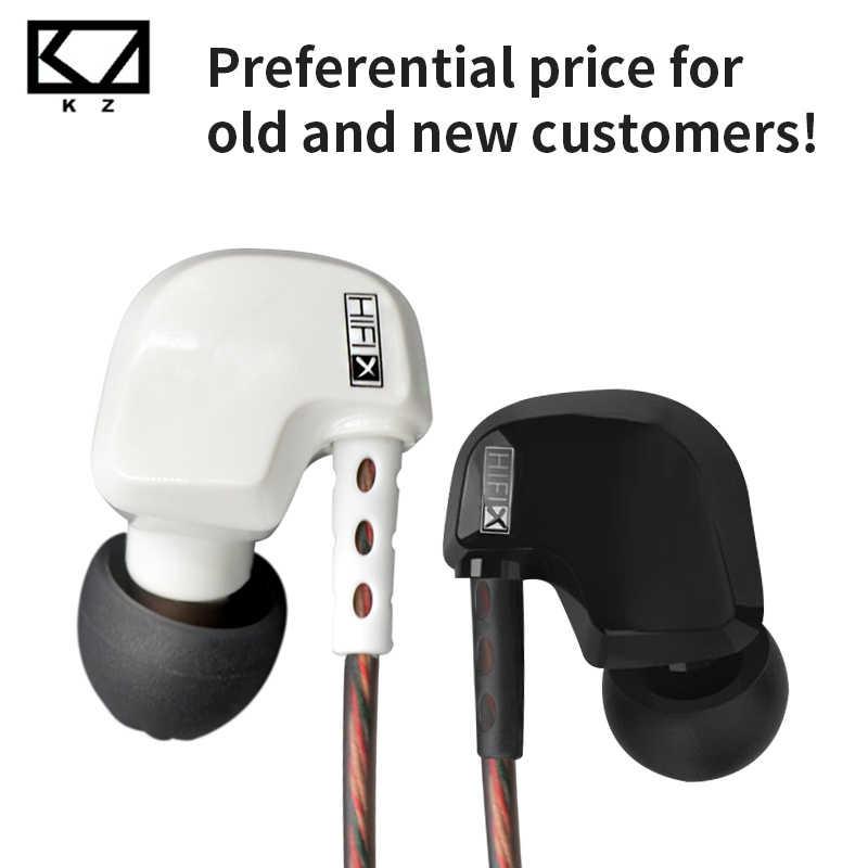 CCA KZ ATES ATE At rhd9 zestaw słuchawkowy miedziany Driver3.5mm w słuchawkach dousznych Hifi Sport w uchu słuchawka do telefonu Iphone Xiaomi