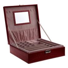 Estuche organizador de joyas de viaje portátil para mujer, niña y mujer, anillo, collar, caja de almacenamiento para reloj