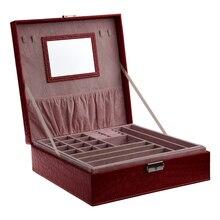 Kadın Lady kızlar oyuncu taşınabilir seyahat takı organizatör küpe/yüzük/kolye/saat saklama kutusu durumda