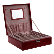 Woman Lady Girls Actress Portable Travel Jewelry Organizer Earring/Ring/Necklace/Watch Storage Box Case