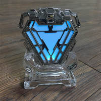 Newest Iron Man Mark 50 MK50 Nano Suit Armor Arc Reactor Led Light Figure Model Toys Dolls Avengers Display Stand Collections
