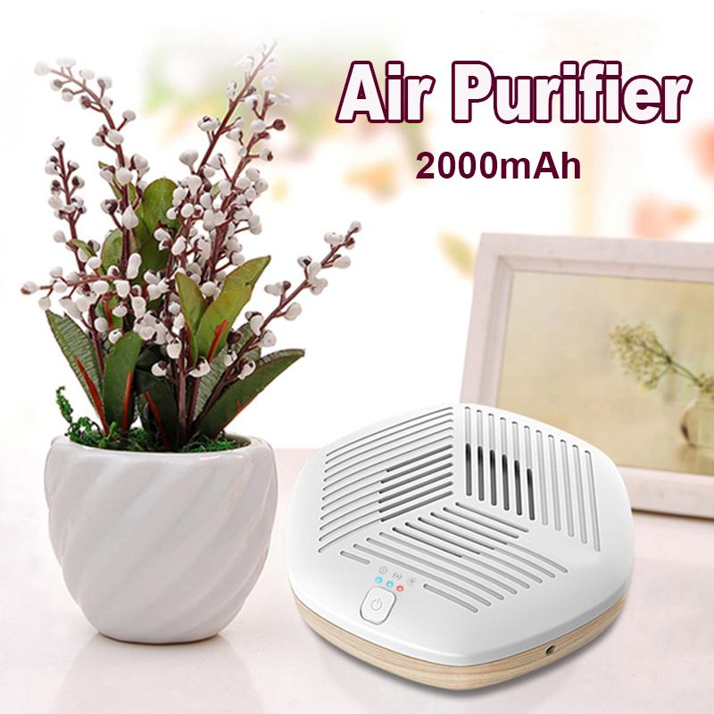 Mini Portable Air Purifiers USB Negative Ion Ozone Generator Remove Formaldehyde Air Purifier Bathroom Car Odor Purification New