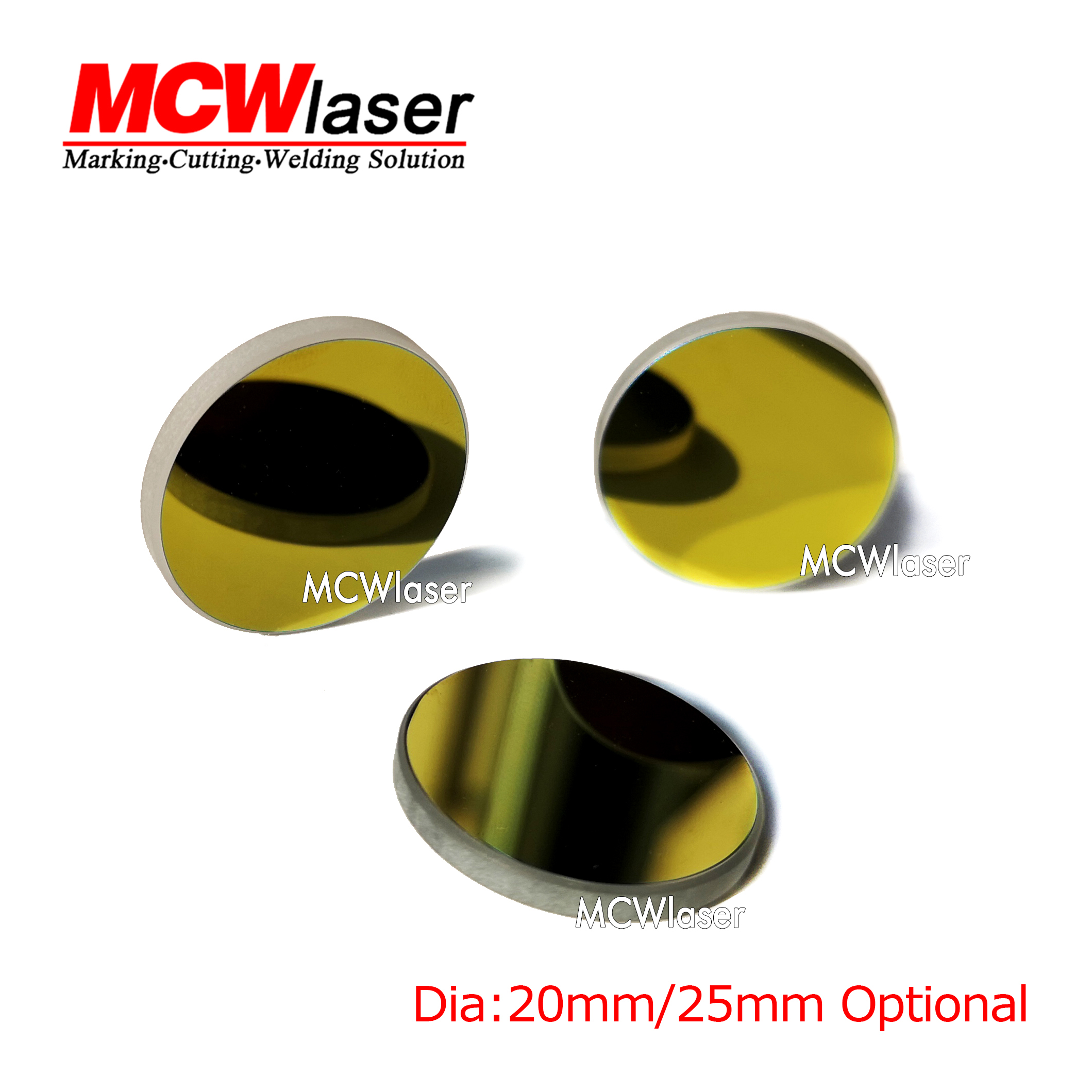 3pcs Dia 25mm K9 Gold Coated Reflection Mirror Reflector Co2 Laser Engraving Engraver Cutter K40