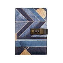 Винтажный дневник с замком журнал путешествий кожаный блокнот