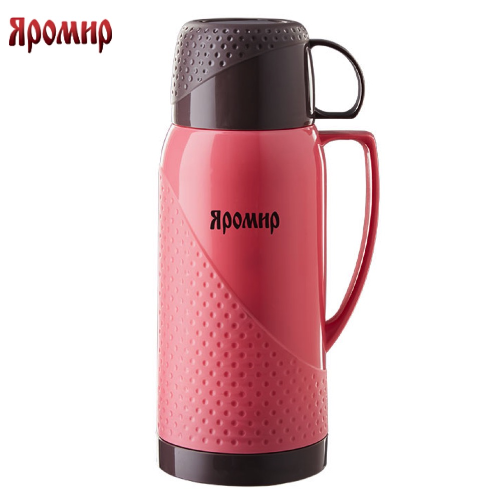 Vacuum Flasks & Thermoses Yaromir YAR-2022C/1 Pink/Brown thermomug thermos thermo keep сup stainless steel water mug food flask 9 stainless steel food utility tong