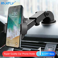 RAXFLY Luxury Phone Stand Car Phone Holder For Samsung Galaxy S10 Plus Lite Windshield Car Mount Phone Stand Holder For iPhone 7