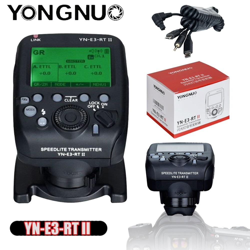 Yongnuo YN-E3-RT II YN-E3 RT II TTL Radio Flash déclencheur Speedlite transmetteur contrôleur pour Canon 600EX-RT YONGNUO YN600EX-RTII