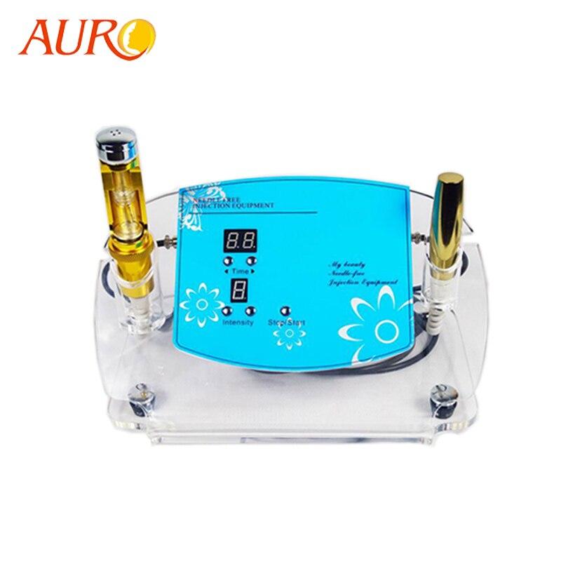 AURO 2019 New Au-49 Electroporation No Needle Mesotherapy Needle Free Penetration Iontophoresis Needless Machine With CE