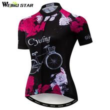 Weimostar Bike Team Cycling Jersey Shirt Summer Women Short Sleeve Bicycle Clothing Maillot Ciclismo Quick Dry MTB Bike Jersey стоимость