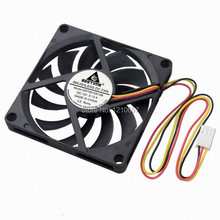 2PCS GDT 3Pin 8cm 80x10mm 80mm x 10mm DC 12V Brushless Cooling Cooler CPU Fan