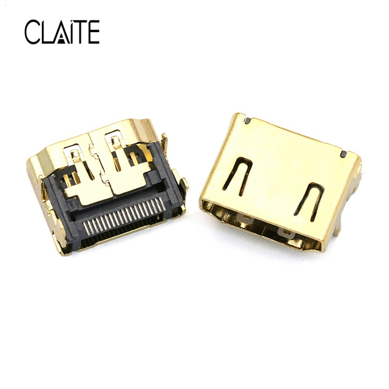Useful Claite 19 Pin Hdmi Female Connector Type A Hdmi Socket Gold-plated Plug Smt Smd Diy Video Connector 4 Legs Digital Cables