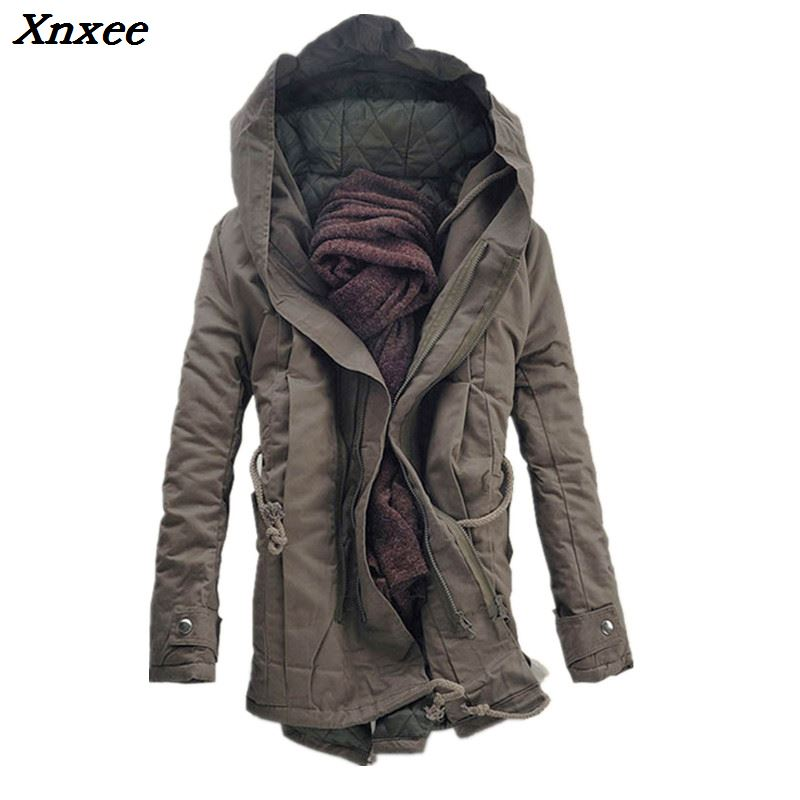 Men Jacket and Coats 2018 Winter Warm Fashion Jackets Downs Casual Thick Outwears Hooded cotton jacket 6XL