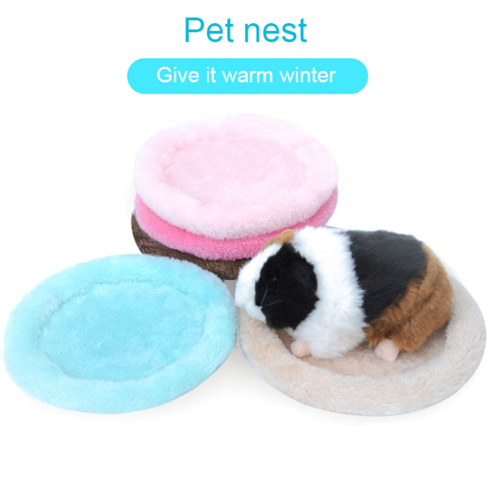 New Plush Soft Guinea Pig House Bed Cage For Hamster Mini Animal Mice Rat Nest Bed Squirrel Hamster House Small Pet Products