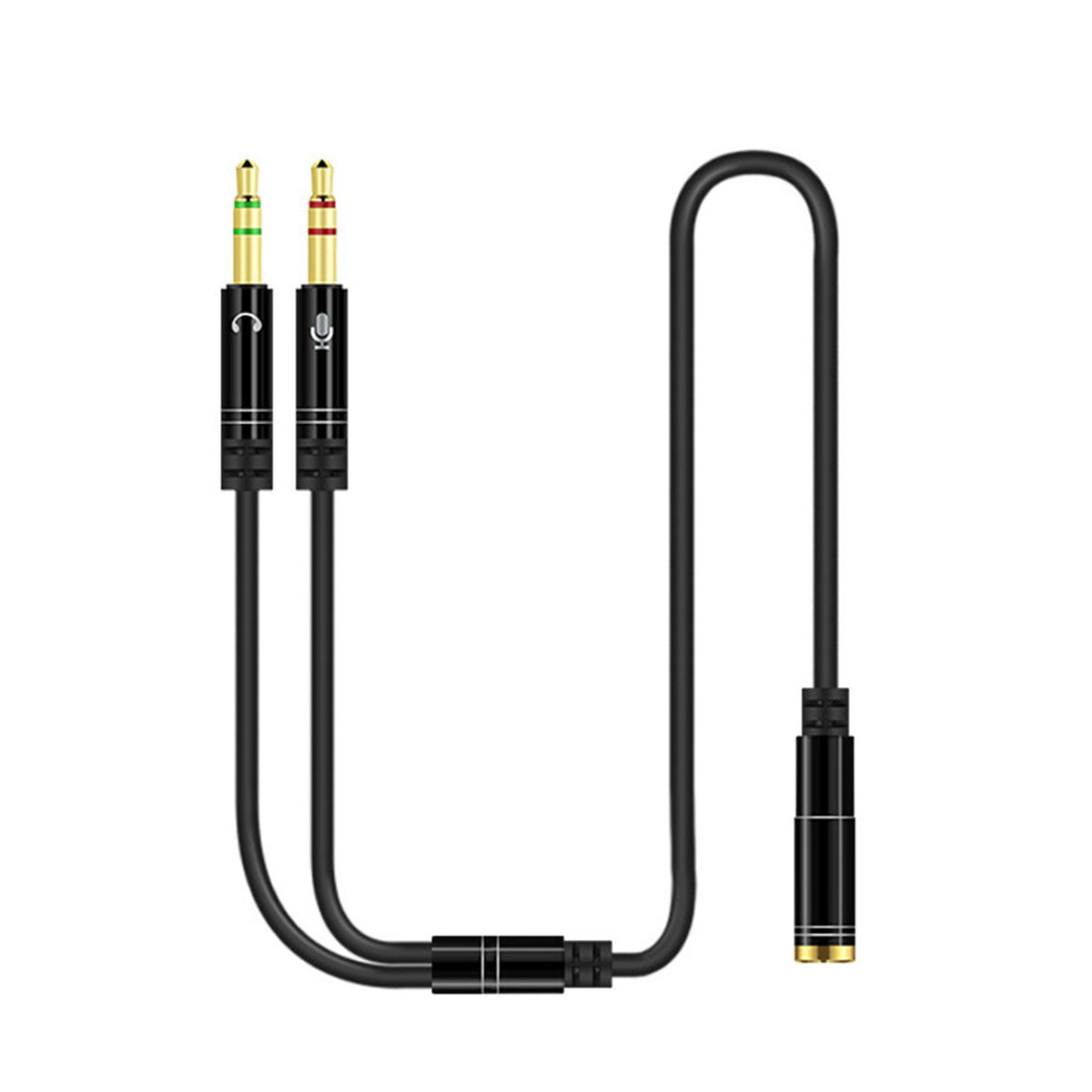 AUX 3.5mm Audio Mic Splitter Cable Female to 2 Male Headphone Microphone Adapter Pakistan