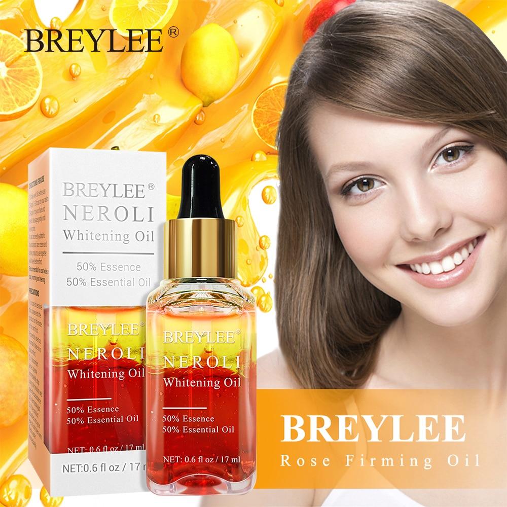BREYLEE Orange Nectar Firming Hyaluronic Acid Essential Oil Moisturizer Whitening Firming Facial Serum Anti-Aging Face Skin Care