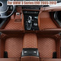 Floor Mats Auto Foot Carpets Car Step Brand New Embroidery Leather Mats For BMW 3 Series E90 2005 2006 2007 2008 2009 2010 2013